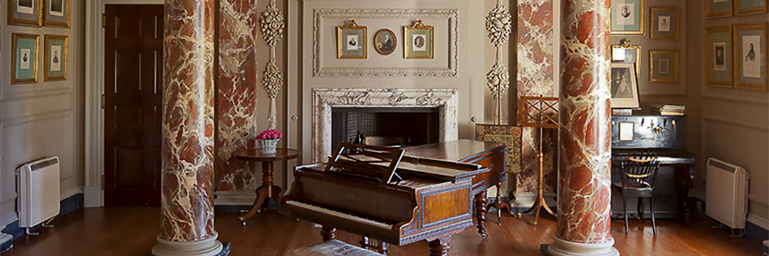 The Cobbe Collection, pianos in an ornate formal setting